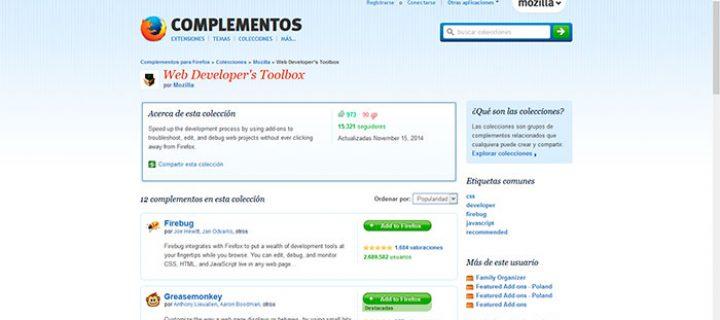 12 extensiones de Firefox para el desarrollo Web