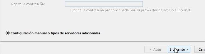 paso 3 - Configurar correo corporativo en Outlook 2016